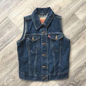 Dark Denim Levi's Jean Vest